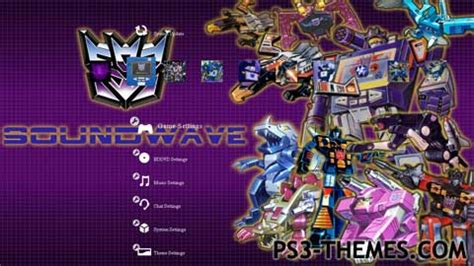 transformers theme download for pc ps3 themes 187 transformers soundwave 1 0