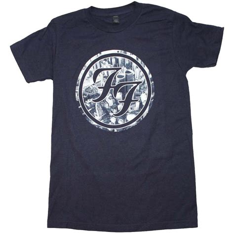 T Shirt Kaos Foo Fighters foo fighters t shirt foo fighters city circle logo t shirt