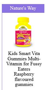 Natures Way Smart Vita Gummies Multivitamin For Fussy Eaters what to give who are fussy eaters roy