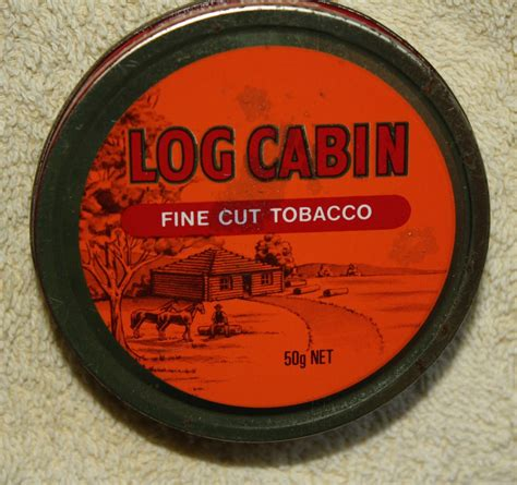 Log Cabin Tobacco by Swapmeet Log Cabin Tin 50g Net Empty