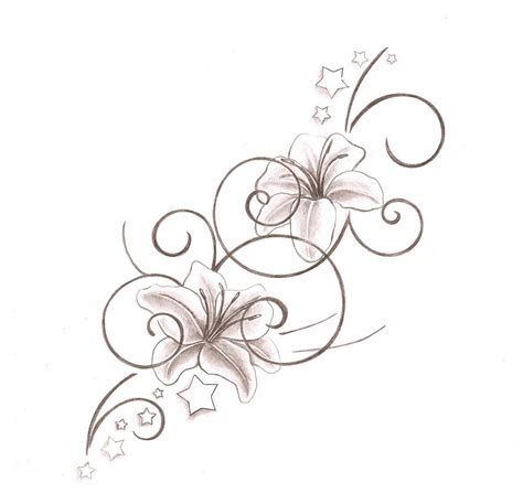lily swirl tattoo designs tribal tattoos for design and best