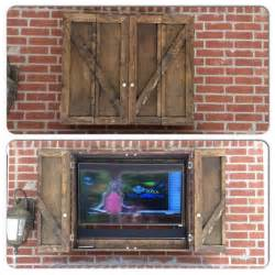 Patio Tv Cover by Our New Custom Outdoor Tv Cabinet Ideas For Patio