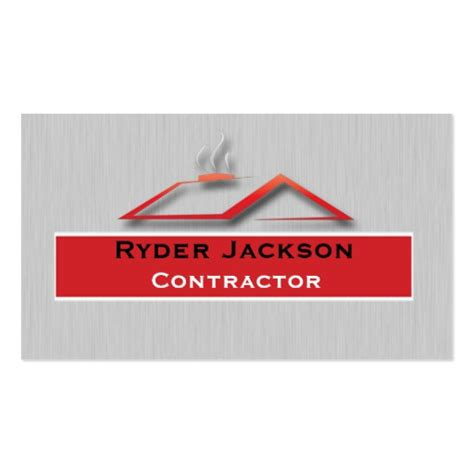 Calling Card Template Construction by Construction Roofing Business Card Template Zazzle