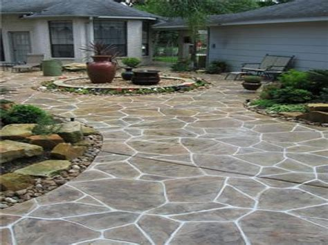concrete designs for patios flagstone sted concrete