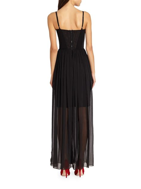Shakira Maxy shakira semi sheer bustier maxi dress in