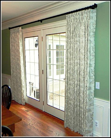 hinged curtain rod for doors hinged curtain rods for french doors curtains home
