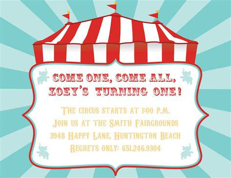 circus theme invitation templates 40th birthday ideas carnival birthday invitation template