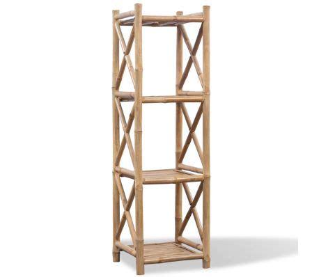 regal viereckig bambus regal 4 etagig viereckig g 252 nstig kaufen vidaxl de
