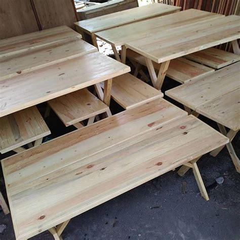 tiga sel furnitur berbahan kayu bekas jati belanda
