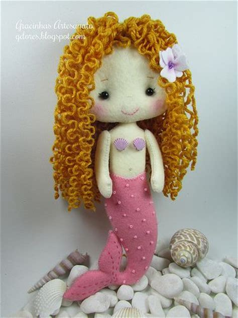 pattern for felt mermaid felt mermaid doll gingermelon pattern mu 241 ecas pinterest