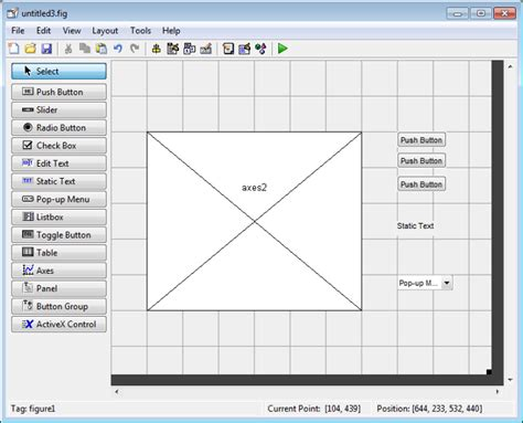 guide layout editor matlab add components to the guide layout area matlab simulink