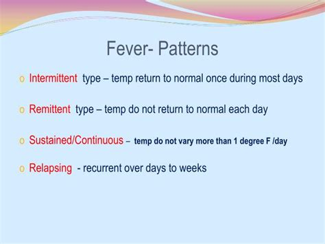 fever pattern types ppt fever a clinical approach powerpoint presentation