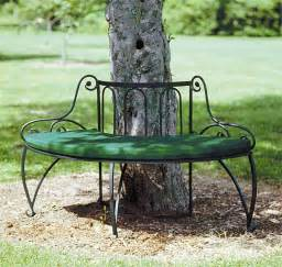metal tree bench object moved