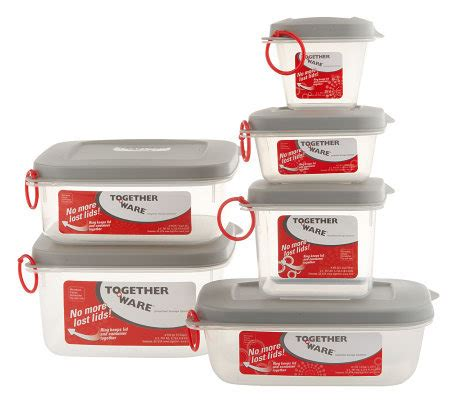 Kevinware Food Storage together ware 6 food storage container set qvc