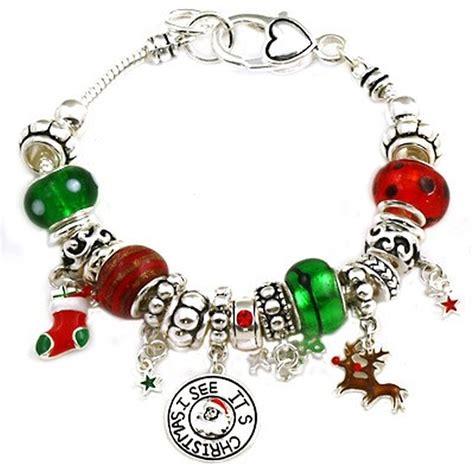 theme pandora inspired charm bracelet silver