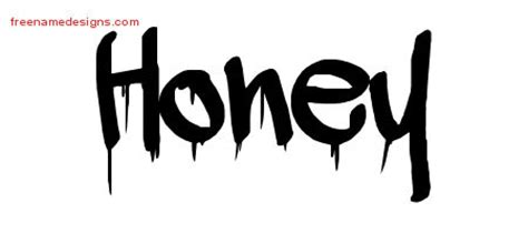 tattoo lettering honey graffiti name tattoo designs honey free lettering free