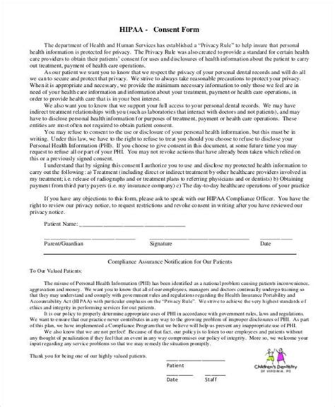 Hipaa Consent Forms Hipaa Patient Authorization Form Images Of Hipaa Privacy Form Template Hipaa Notice Of Privacy Practices 2017 Template