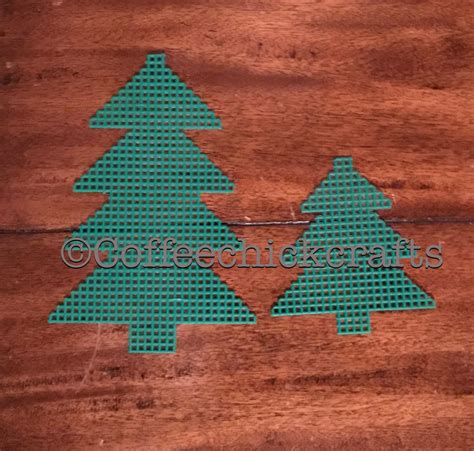 christmas tree plastic canvas cut outs plastic canvas
