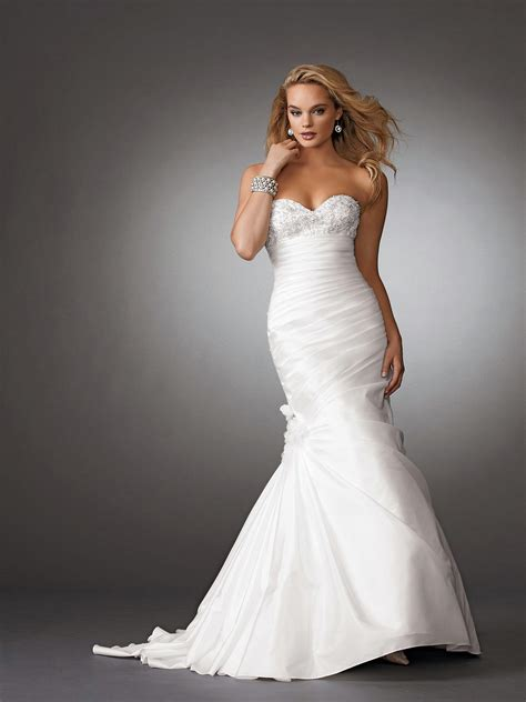 taffeta applique ruched mermaid wedding dress on sale