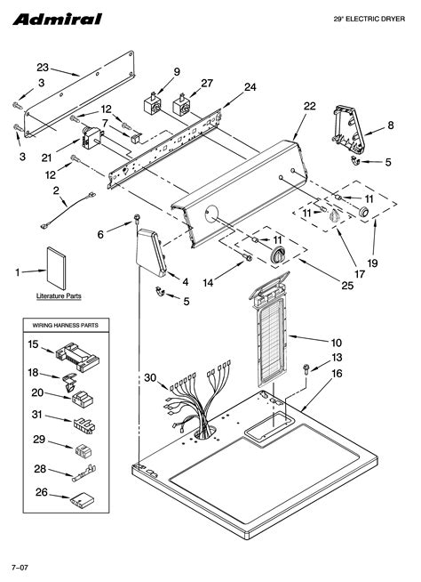 admiral dryer parts diagram 301 moved permanently