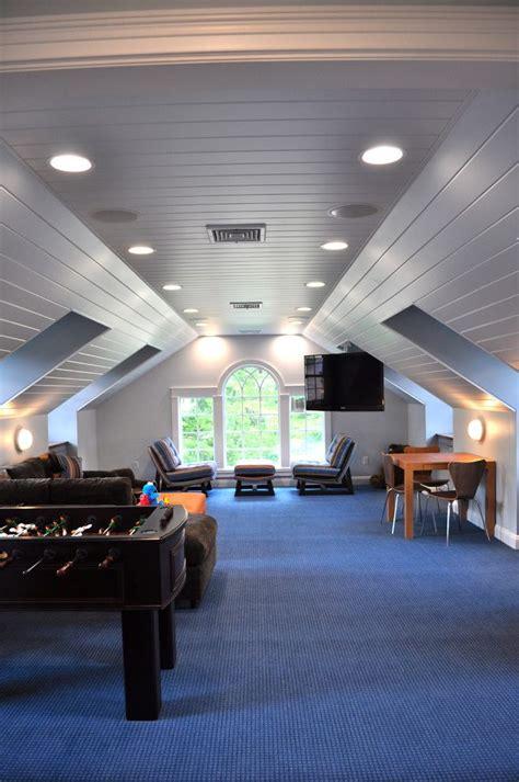 amazing Kids Play Room Ideas #5: bonus-room-ideas-family-traditional-with-attic-white-recessed-light-trims.jpg