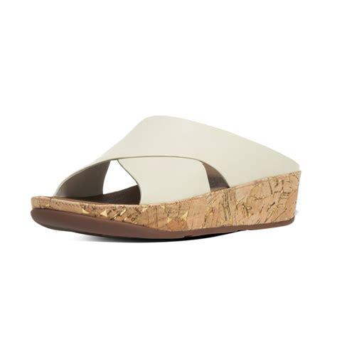 white slide sandals fitflop kys summer 16 leather slide sandals in