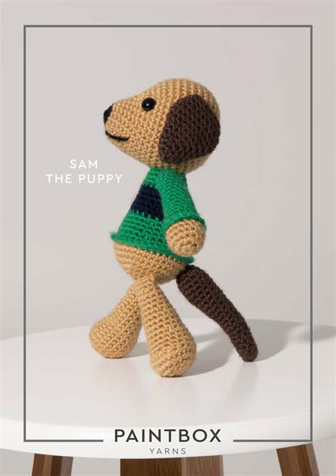 sam the puppy in paintbox yarns simply dk dk cro 008 downloadable pdf