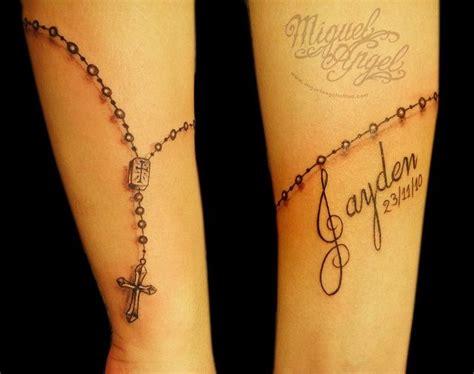 wrist tattoos rosary beads name wrist tattoos miguel