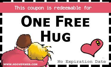 printable free hug coupons free printable hug coupons