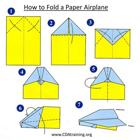 Folding A Paper Airplane - 123 play and learn child care basics resources air and