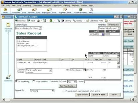 how to change sales receipt template in quickbooks quickbooks enter quickbooks sales receipts