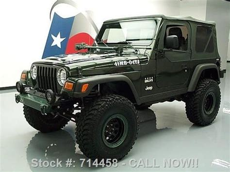 2004 Jeep Wrangler Willys Purchase Used 2004 Jeep Wrangler X Lifted 4x4 Willys
