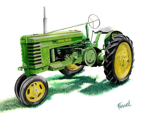 deere tractor painting by ferrel cordle