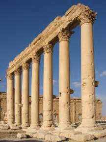 What Is The Purpose Of Background Information In An Essay by File Columns In The Inner Court Of The Bel Temple Palmyra Syria Jpg