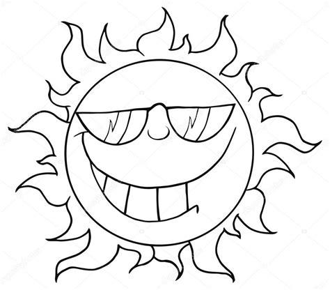 imagenes sol negro personaje de dibujos animados de sol con gafas de sol