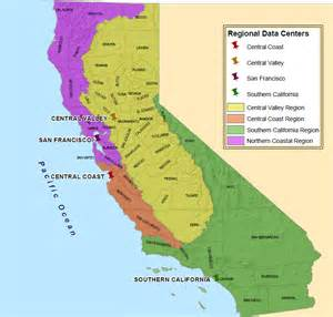4 regions of california map ceden california environmental data exchange network