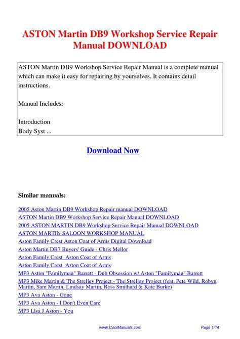 aston martin db9 workshop service manual repair manual order download aston martin db9 workshop service repair manual by lan huang issuu