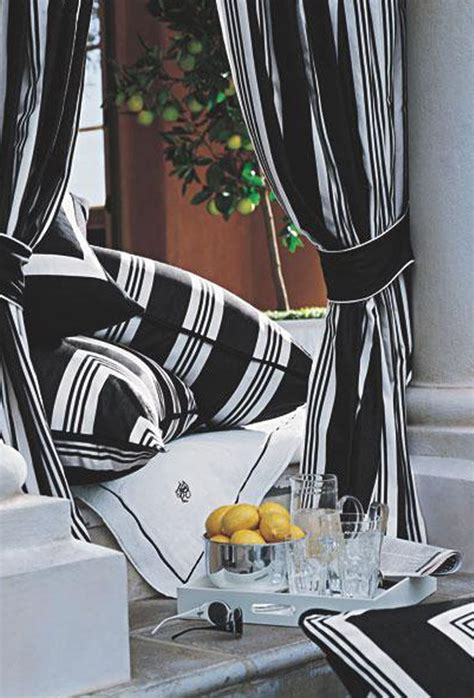 ralph home black and white striped fabric creates a