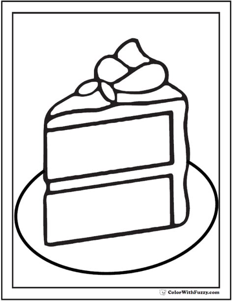 coloring pages of a piece of cake 20 cake coloring pages customize pdf printables
