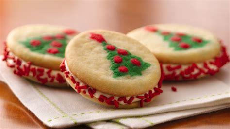 christmas tree sandwich cookies recipe pillsbury com