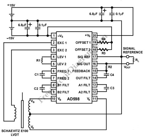 analog integrated circuits position lvdt signal conditioner design procedure ad589 dual supply circuit wiring diagrams