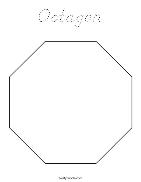 Octagon Coloring Page D Nealian Twisty Noodle Octagon Coloring Page