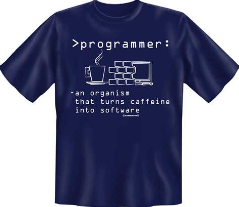 Programmer T Shirt programmer turns caffeine t shirt textilien s