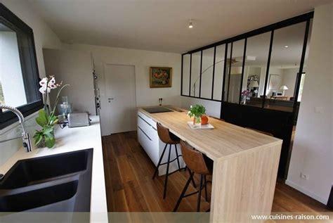 cuisine couloir parallele stratifie clair sautron 44