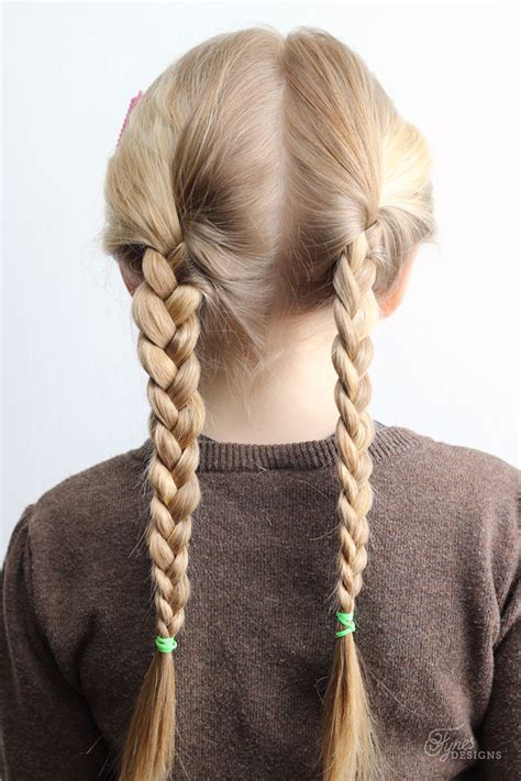 easy hairstyles with two braids 5 minute school day hair styles fynes designs fynes