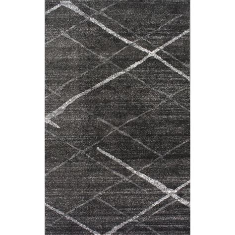 Karpet 508 Grey nuloom thigpen grey 5 ft x 8 ft area rug bdsm04b