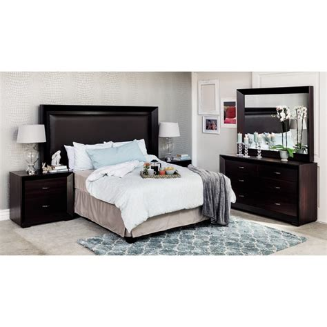black bedroom suite sienna 5pce bedroom suite black wood