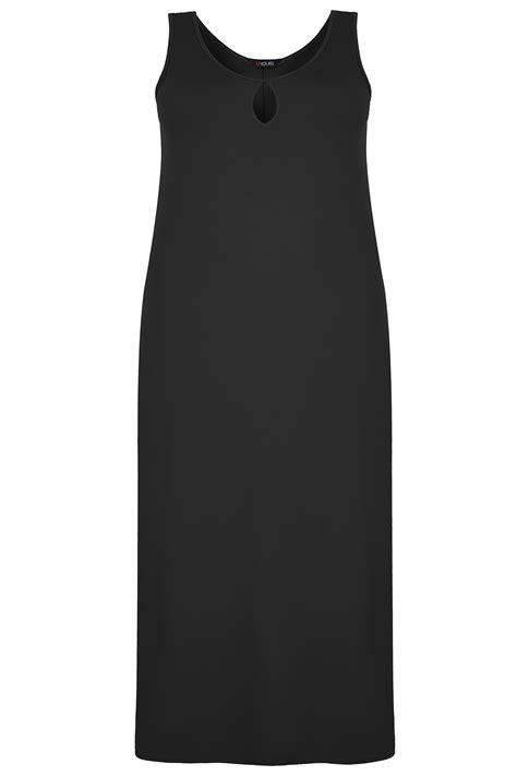 Dress Jersey Dress Jersey3 black jersey maxi dress with keyhole detail plus size 16