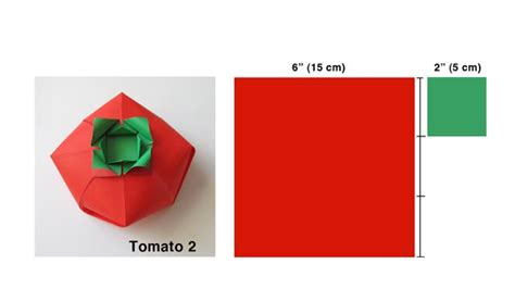 Origami Tomato - origami boxes learn how to make a tomato shaped origami