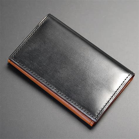 Leather Business Card Holder Mens